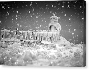 Let It Snow Canvas Print by Jackie Novak