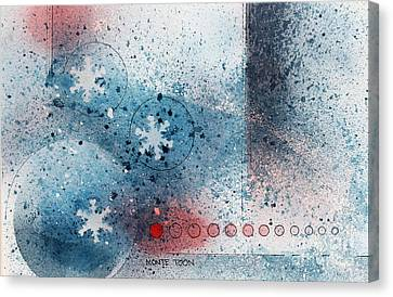 Let It Snow Canvas Print by Monte Toon