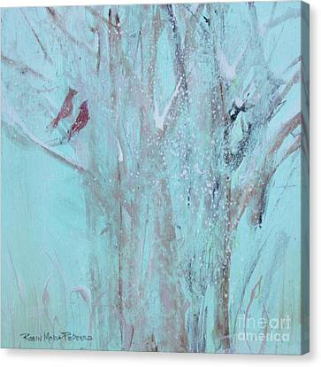 Canvas Print featuring the painting Let It Snow by Robin Maria Pedrero