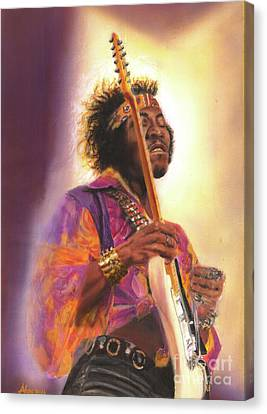 Jimi Hendrix Let Me Stand Next To  Your Fire Canvas Print by Alex Artman