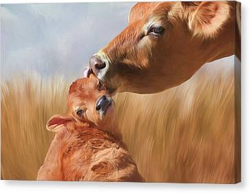 Lick Canvas Print - Let Mom Clean Your Ears by Donna Kennedy