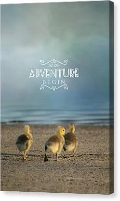 Let The Adventure Begin Canvas Print by Jai Johnson