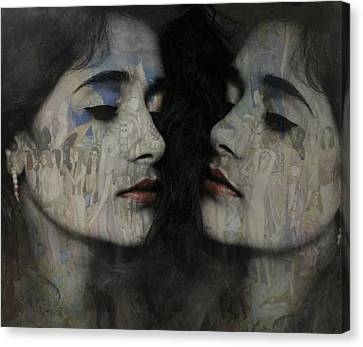 Female Canvas Print - Let The Dream Begin Let Your Darker Side Give In  by Paul Lovering