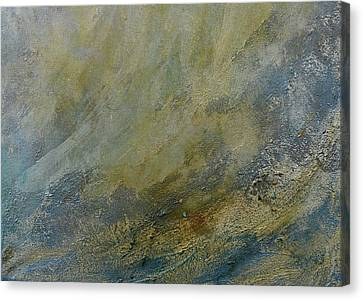 Silver Turquoise Canvas Print - Let The Dry Earth Appear by Laurie Hein
