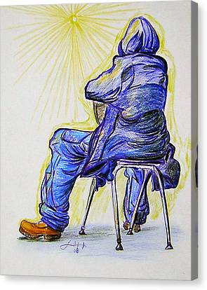 Canvas Print featuring the drawing Let The Sunshine In by Lee Nixon
