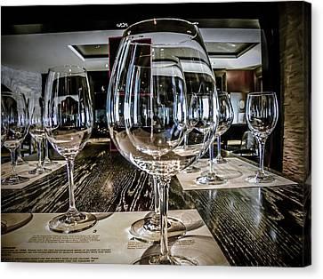 Tasting Canvas Print - Let The Wine Tasting Begin by Julie Palencia