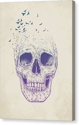 Skull Canvas Print - Let Them Fly by Balazs Solti