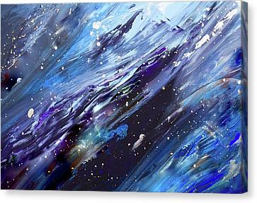 Silver Turquoise Canvas Print - Let There Be A Firmament In The Midst Of The Waters by Laurie Hein