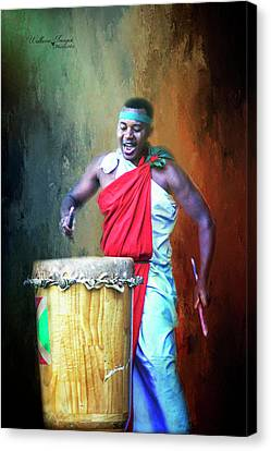 Canvas Print featuring the photograph Let There Be Drums by Wallaroo Images