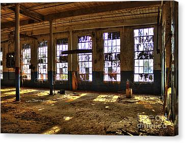 Let There Be Light Mary Leila Cotton Mill 1899 Canvas Print by Reid Callaway