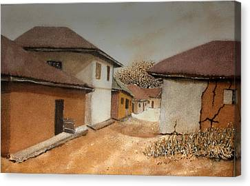 Let There Be Peace In Our Land Canvas Print by Bankole Abe