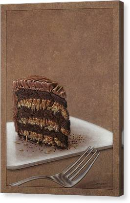Chocolate Canvas Print - Let Us Eat Cake by James W Johnson