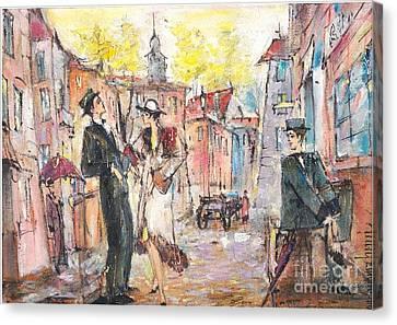 Let Us Get Acquainted Canvas Print