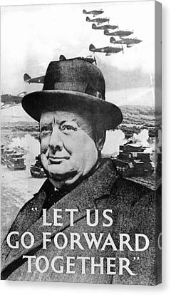Let Us Go Forward Together Canvas Print by English School