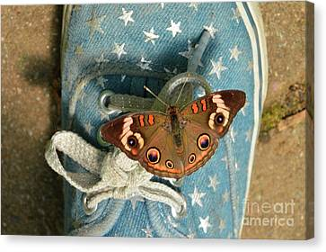 Let Your Spirit Fly Free- Butterfly Nature Art Canvas Print by Robyn King