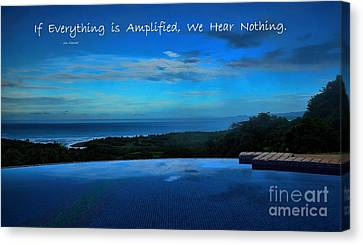Let Yourself Hear The Magic Canvas Print by Pamela Blizzard