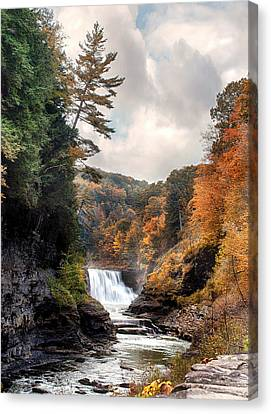 Letchworth Lower Falls 2 Canvas Print by Peter Chilelli