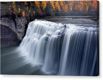 Letchworth Middle Falls II Canvas Print by Timothy McIntyre