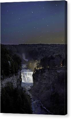 Letchworth State Park Middle Falls  Canvas Print by Joe Granita