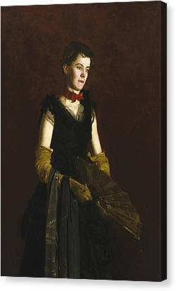 Letitia Wilson Jordan Canvas Print by Thomas Eakins
