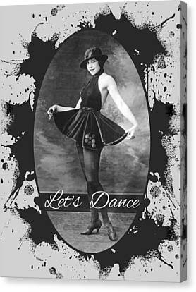 Canvas Print featuring the digital art Lets Dance by Robert G Kernodle