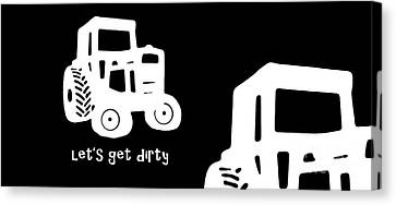Let's Get Dirty Mug Canvas Print by Edward Fielding