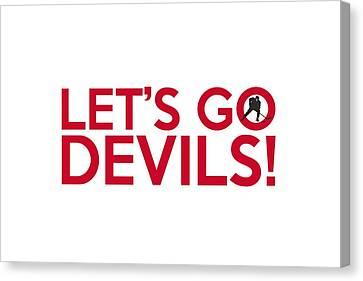 Let's Go Devils Canvas Print