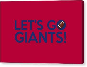 Let's Go Giants Canvas Print by Florian Rodarte