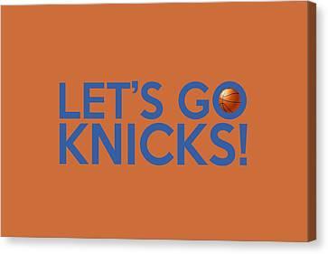 Let's Go Knicks Canvas Print by Florian Rodarte