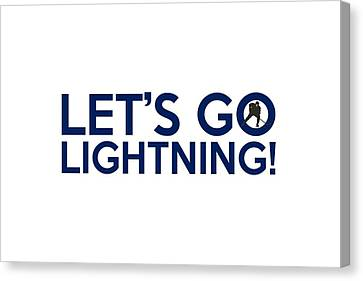 Let's Go Lightning Canvas Print