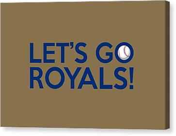 Kansas City Canvas Print - Let's Go Royals by Florian Rodarte