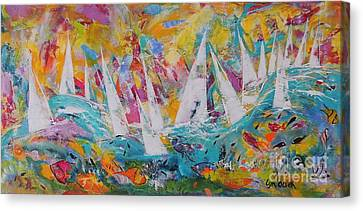 Lets Go Sailing Canvas Print by Lyn Olsen