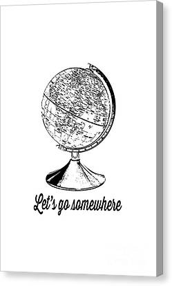 Let's Go Somewhere Tee Canvas Print by Edward Fielding