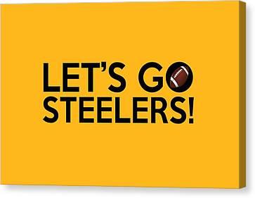 Let's Go Steelers Canvas Print by Florian Rodarte