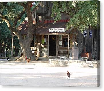 Let's Go To Luckenbach Texas Canvas Print