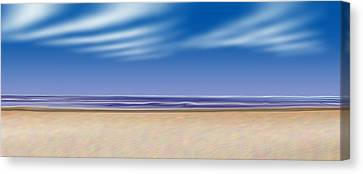 Canvas Print featuring the digital art Let's Go To The Beach by Saad Hasnain