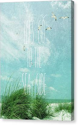 Canvas Print featuring the photograph Let's Go To The Sea-side by Jan Amiss Photography