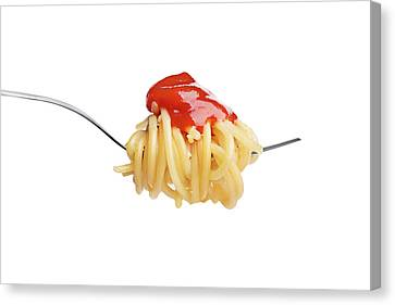 Let's Have A Pasta With Ketchup Canvas Print by Vadim Goodwill