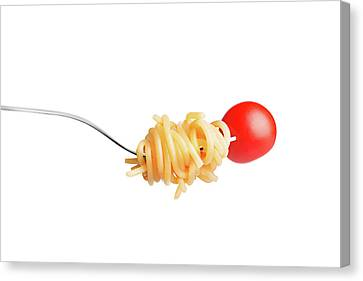 Let's Have A Pasta With Tomato Canvas Print by Vadim Goodwill