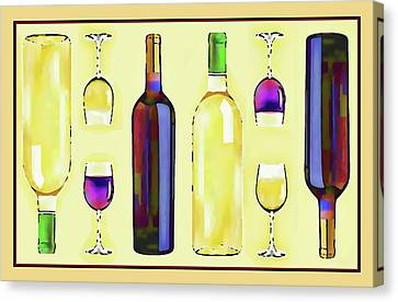 Let's Have Some Wine Canvas Print