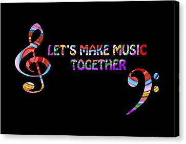 Let's Make Music Together Canvas Print by Gill Billington