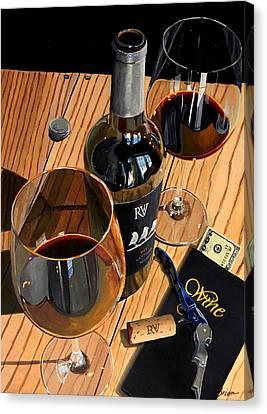 Virginia Wine Canvas Print - Let's Rendezvous by Brien Cole