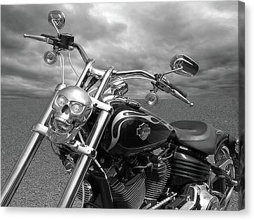 Canvas Print featuring the photograph Let's Ride - Harley Davidson Motorcycle by Gill Billington