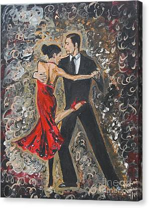 Lets Tango Canvas Print by Jasmine Tolmajian