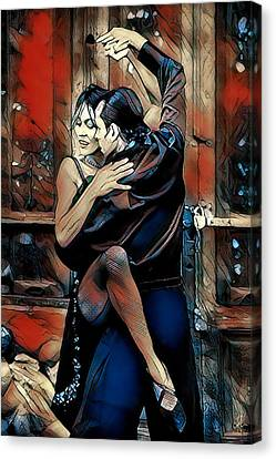 Canvas Print featuring the digital art Let's Tango by Pennie McCracken