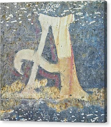 Impressionist Canvas Print - Letter A A La Monet by Carol Leigh