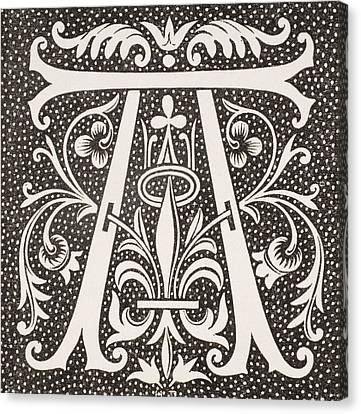 Letter A Canvas Print by French School
