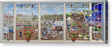 Letter Carriers Picture Window Of Brooklyn Canvas Print by Bonnie Siracusa