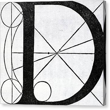 Capital Canvas Print - Letter D by Leonardo Da Vinci