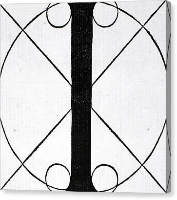 Divine Proportions Canvas Print - Letter I by Leonardo Da Vinci